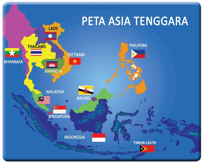 Keadaan Alam Negara Singapura Peta Asia tenggara