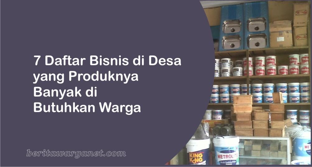 Daftar Bisnis yang di Butuhkan Warga Desa