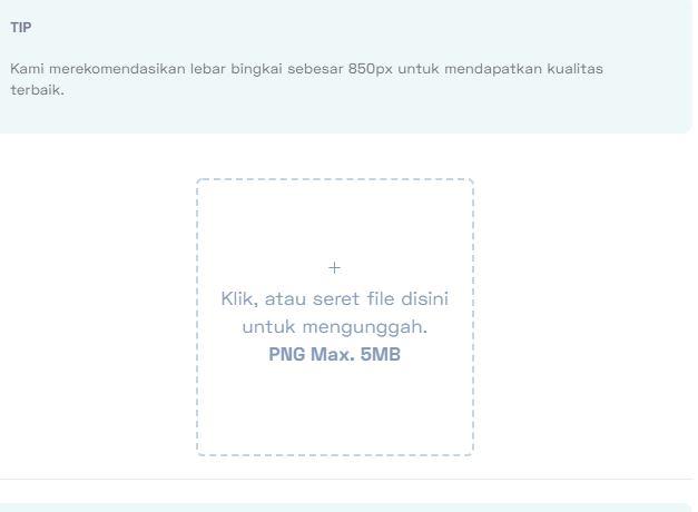 uploud template PNG PPDB Online ke Twibbonize.com