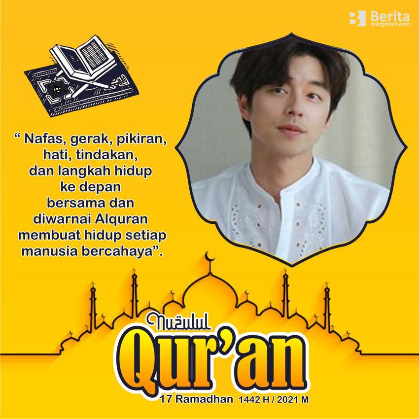 Gambar Twibbon Nuzulul Quran ramadhan 2021