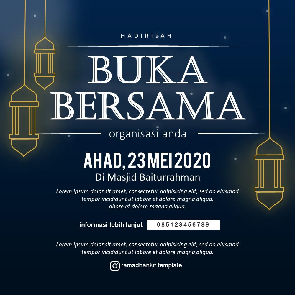 templae desain buka bersama ramadhan 2021