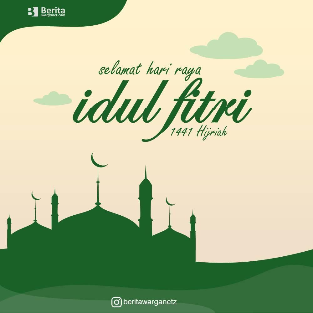 Download Kartu Ucapan Idul Fitri 2021 Template Ppt Berita Warganet