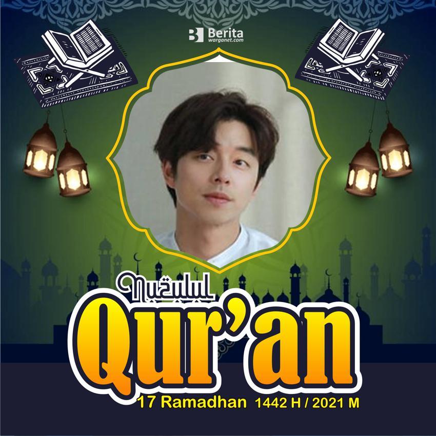 Ucapan berupa Twibbon nuzulul quran ramadhan 2021