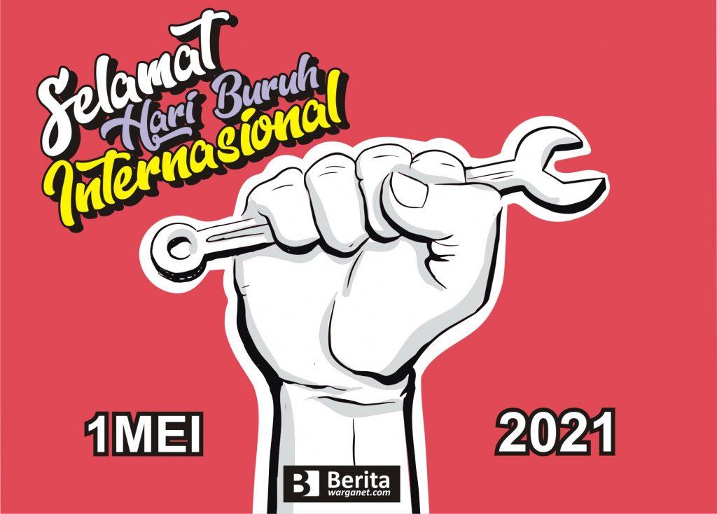 Desain simple Poster Hari Buruh 2021