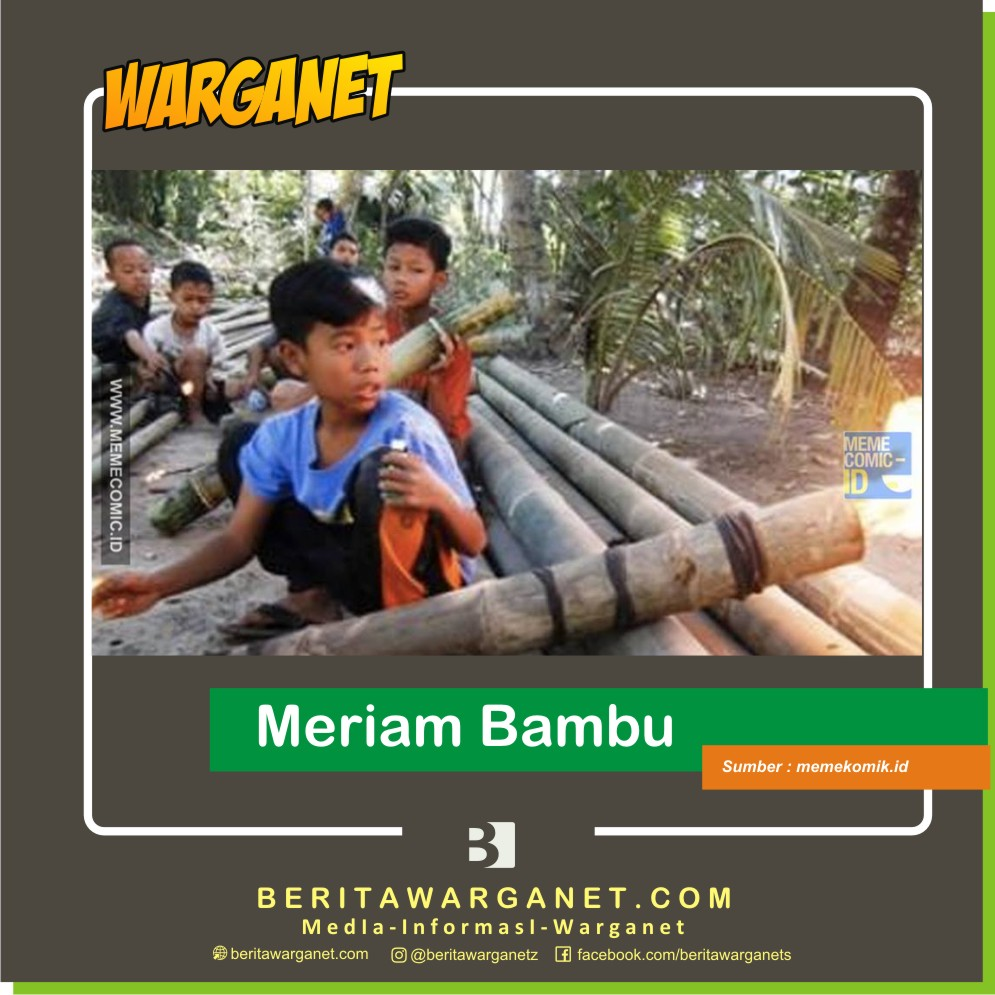 Momen Ramadhan Jadul meriam bambu