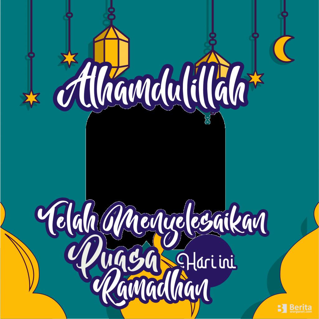 Bingkai Foto Lulus Puasa Ramadhan Hari ini