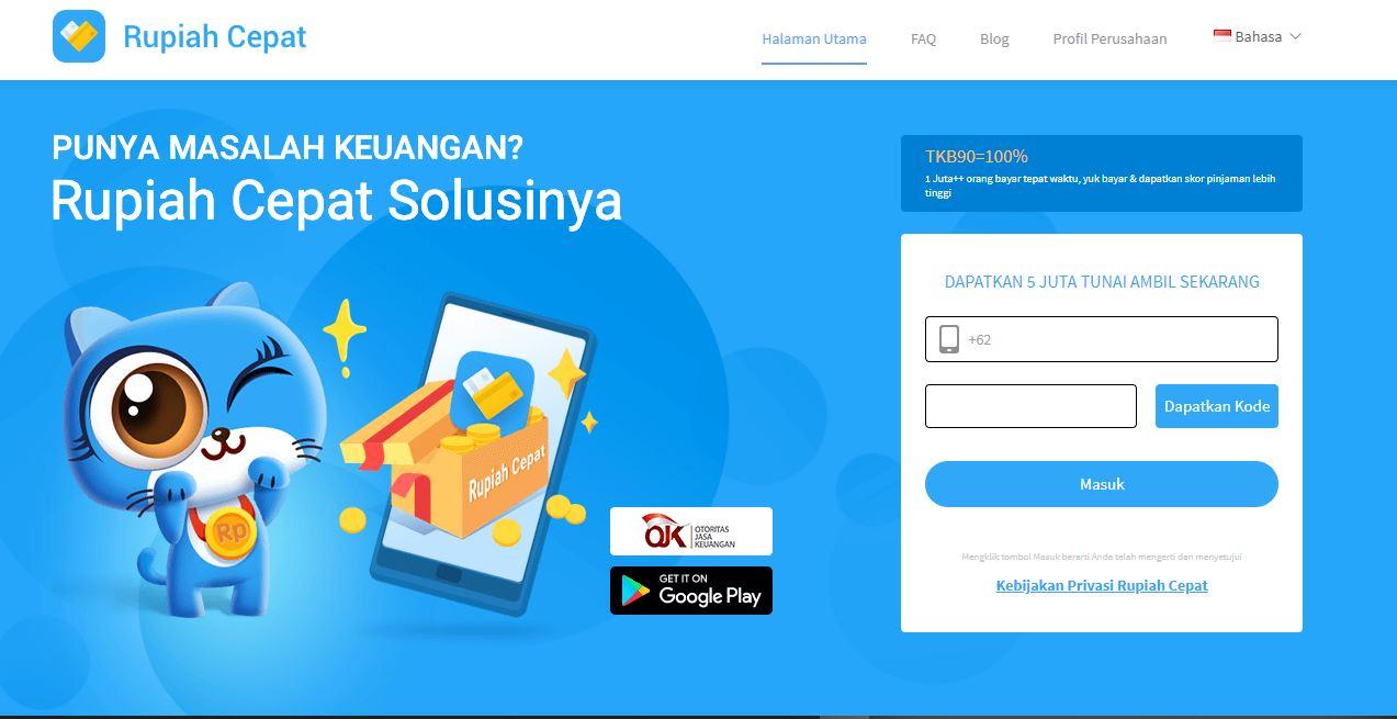 Rupiah Cepat Aplikasi Pinjaman Online Cepat Cair Terdaftar di OJK