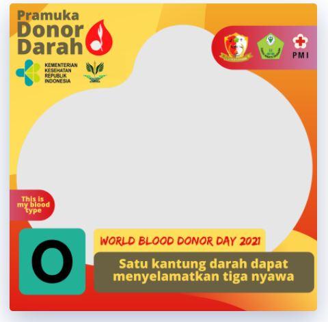 Twibbon Hari Donor Darah Sedunia 2021, Pramuka