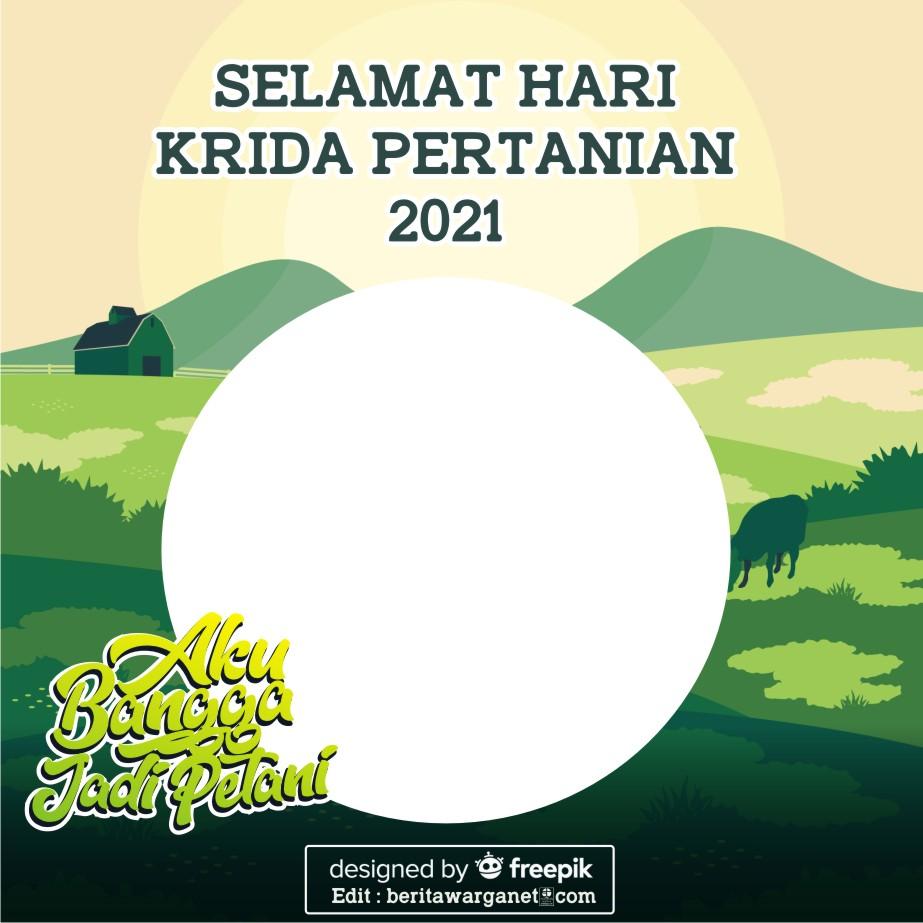 Twibbon Hari Krida Pertanian 20211