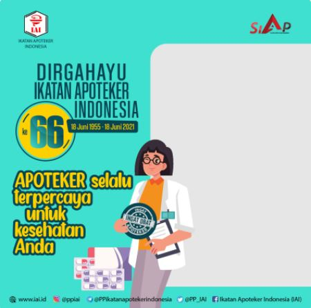 twibbon dirgahayu ikatan apoteker indonesia 2021