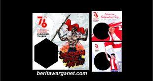 100 twibbon Hut ri ke 76 tahun 2021 PNG disertai Logo resmi HUT ri sesneg