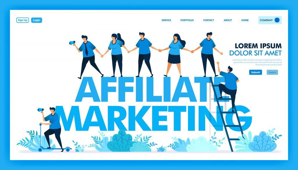 People join hands and invite in affiliate program, Refer a friend to looking for many downline and reseller, Network and seo optimization in marketing and business.
