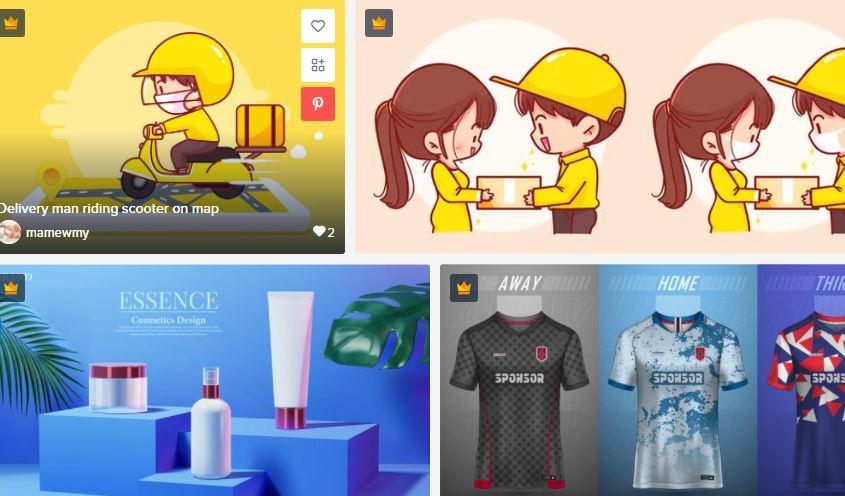 ilustrasi marketplace desain untuk bisnis online saat PPKM darurat