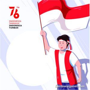 Twibbon HUT RI ke 76, dengan Logo Resmi