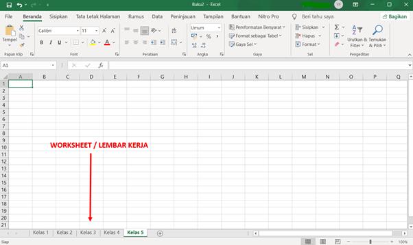 Workbook dan Worksheet Microsoft Excel 4