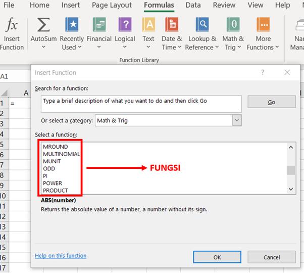 Rumus dan Fungsi Excel 2