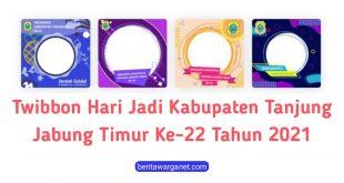 Poster Twibbon Hari Jadi Kabupaten Tanjung Jabung Timur